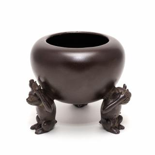 青銅 三猿香炉