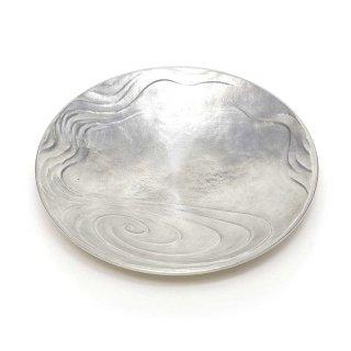 錫 水紋皿
