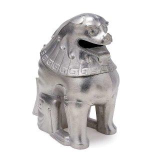錫 獅子香炉