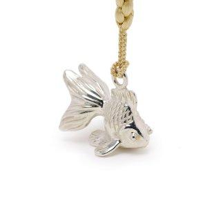 銀 根付 金魚
