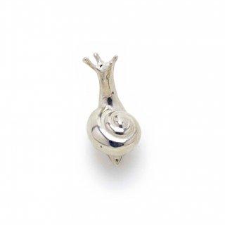 銀 ピンブローチ 蝸牛