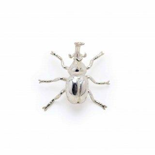 銀 ピンブローチ 兜虫