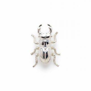 銀 ピンブローチ 鍬形虫