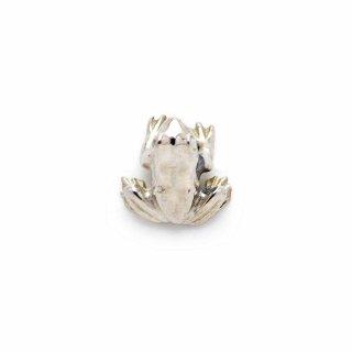 銀 ピンブローチ 蛙