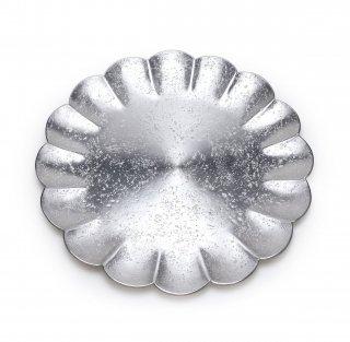 錫 菊割皿 1尺