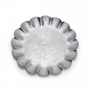 錫 菊割皿 8寸