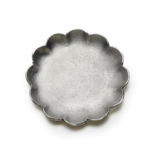 錫 菊割小皿