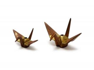 銅 香立 折鶴(大)
