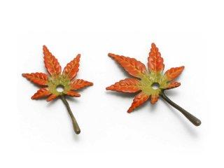 銅 香立 紅葉(彩色・小)
