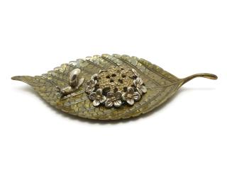 香立 紫陽花に蝸牛