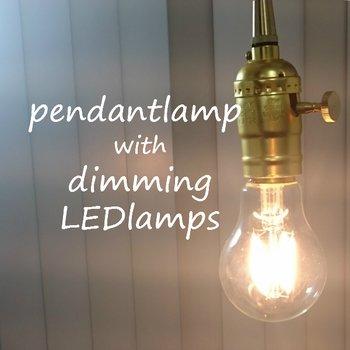 裸電球専用 ペンダントライト フィラメント【LED電球付き】E26