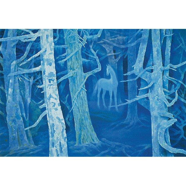 東山魁夷「白馬の森」 <br>プリハード世界の名画 額付