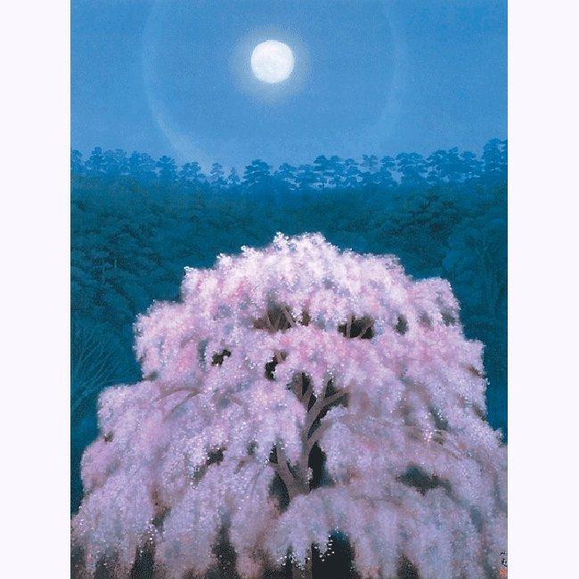 東山魁夷「花明り」 <br>プリハード世界の名画 額付