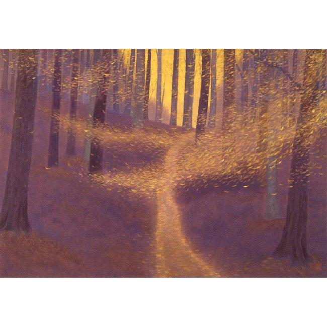 東山魁夷「木枯らし舞う」 <br>プリハード世界の名画 額付