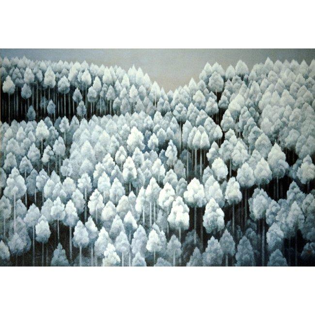 東山魁夷「北山初雪」<br>プリハード世界の名画 額付