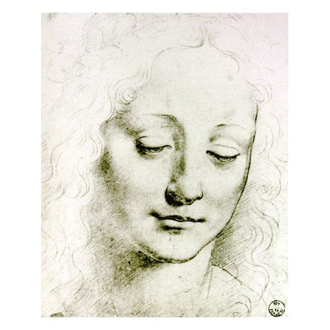 レオナルド・ダ・ヴィンチ 「若い女の頭部」3号〜100号<br>プリハード・デジタグラフ 額付