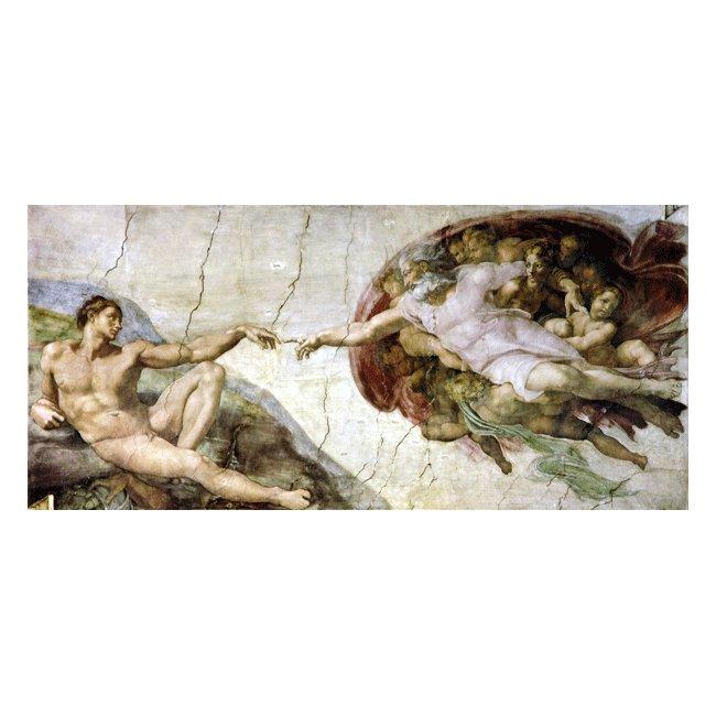 ミケランジェロ・ブオナローティ「アダムの創造」3号〜100号<br>プリハード・デジタグラフ 額付