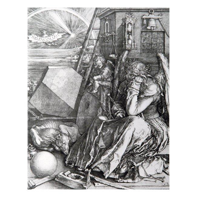 アルブレヒト・デューラー 「メランコリア」 3号〜100号<br>プリハード・デジタグラフ 額付