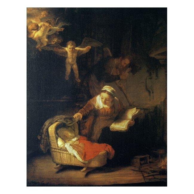 レンブラント・ファン・レイン「天使のいる聖家族」 3号〜100号<br>プリハード・デジタグラフ 額付