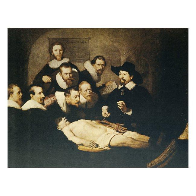 レンブラント・ファン・レイン「テュルプ博士の解剖学講義」 3号〜100号<br>プリハード・デジタグラフ 額付