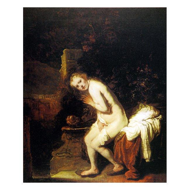 レンブラント・ファン・レイン「スザンナの水浴」 3号〜100号<br>プリハード・デジタグラフ 額付