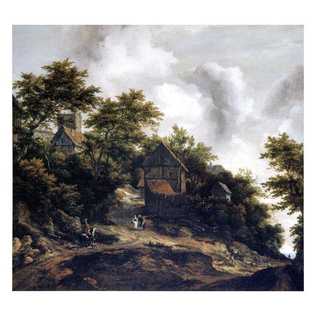 ヤーコブ・ファン・ロイスダール「ベントハイム城の見える風景」 3号〜100号<br>プリハード・デジタグラフ 額付