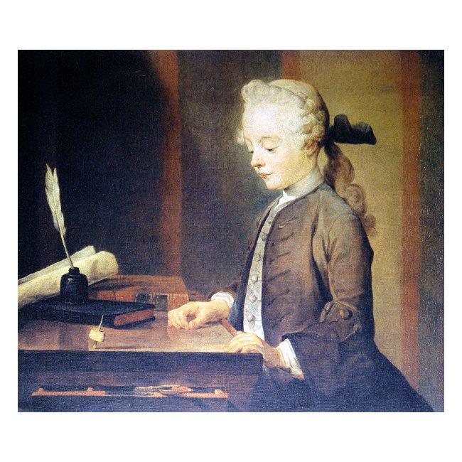 ジャン・シメオン・シャルダン「ゴドフロアの肖像」 3号〜100号<br>プリハード・デジタグラフ 額付
