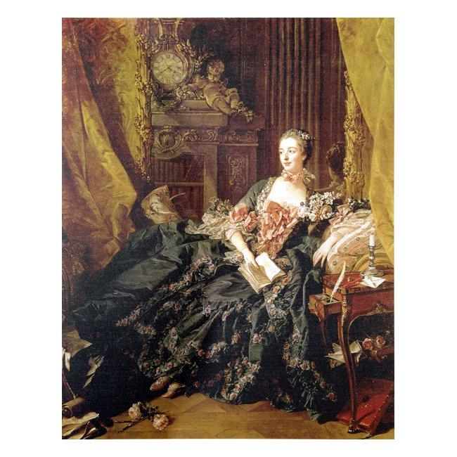 フランソワ・ブーシェ「マダム・ド・ポンパドゥール」 3号〜100号<br>プリハード・デジタグラフ 額付