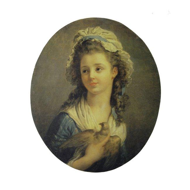 ジャン・オノレ・フラゴナール「鳩を抱く少女」 3号〜100号<br>プリハード・デジタグラフ 額付