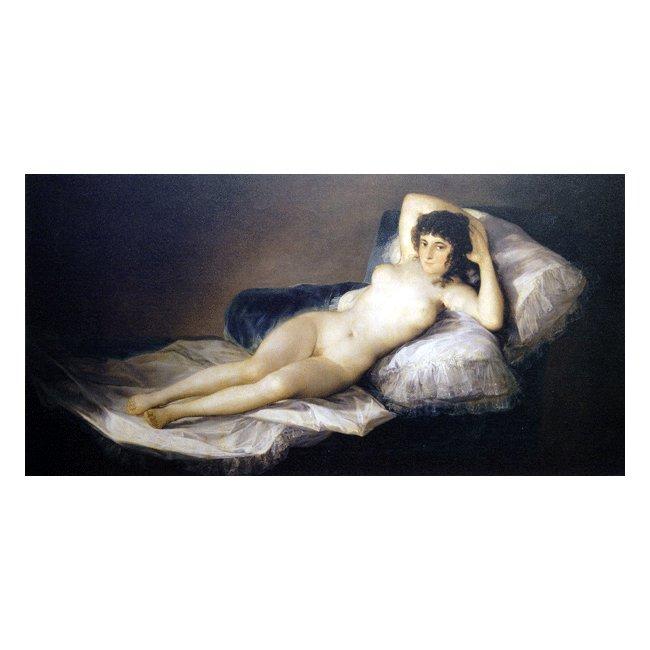 フランシスコ・デ・ゴヤ「裸のマハ」 3号〜100号<br>プリハード・デジタグラフ 額付