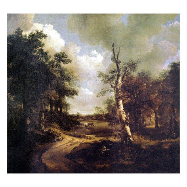 トーマス・ゲインズボロー「ドリンストーンの大庭園」 3号〜100号<br>プリハード・デジタグラフ 額付