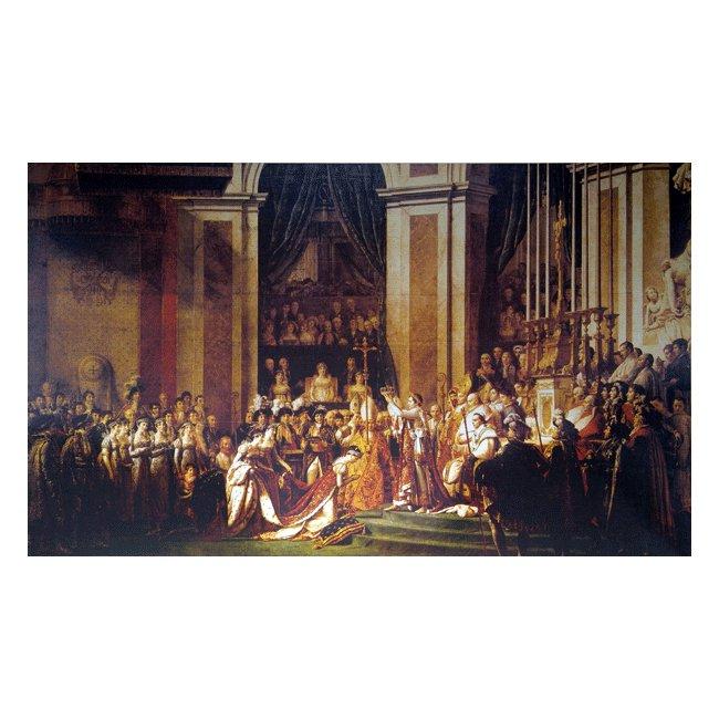 ジャック・ルイ・ダヴィッド「ナポレオンの戴冠式」 3号〜100号<br>プリハード・デジタグラフ 額付