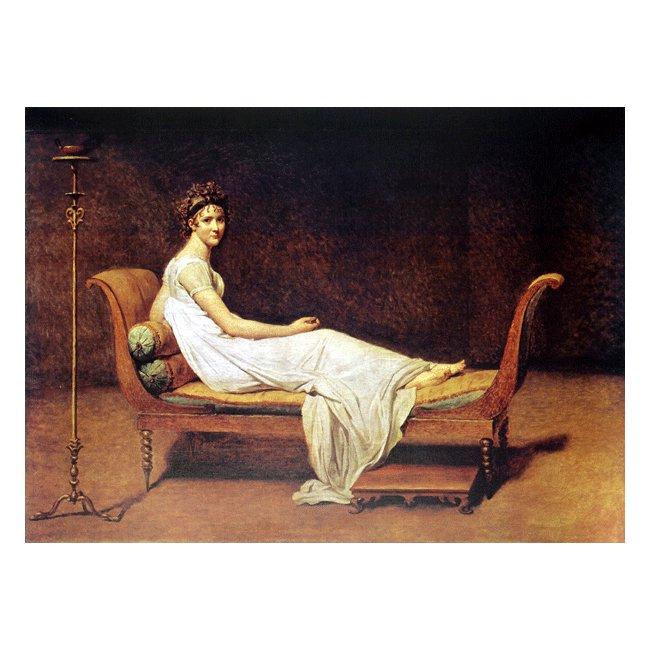 ジャック・ルイ・ダヴィッド「レカミエ夫人の肖像」 3号〜100号<br>プリハード・デジタグラフ 額付