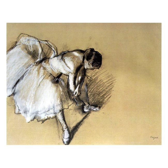 エドガー・ドガ「靴下を直す踊り子」 3号〜100号<br>プリハード・デジタグラフ 額付