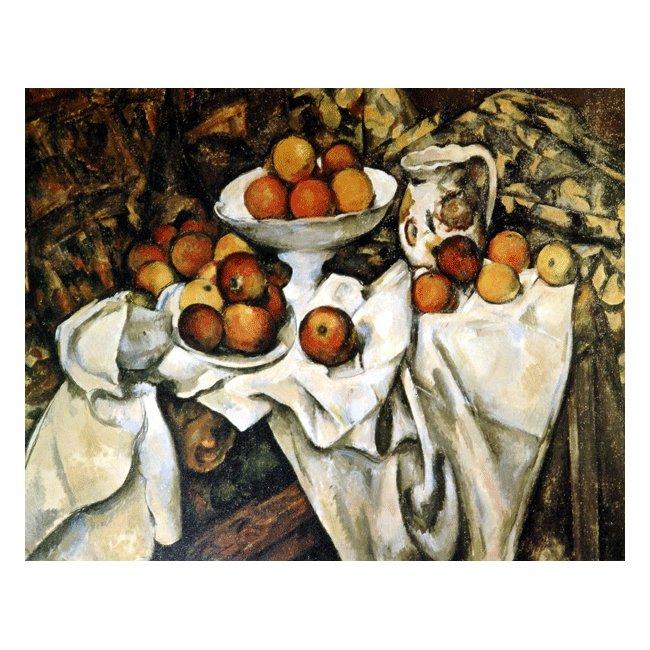 ポール・セザンヌ「リンゴとオレンジ」 3号〜100号<br>プリハード・デジタグラフ 額付