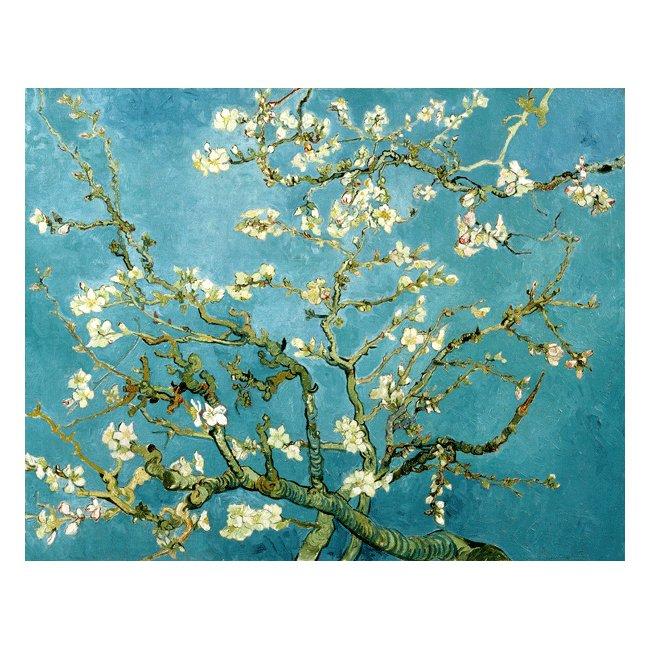 ヴィンセント・ヴァン・ゴッホ「花咲くアーモンドの枝」 3号〜100号<br>プリハード・デジタグラフ 額付