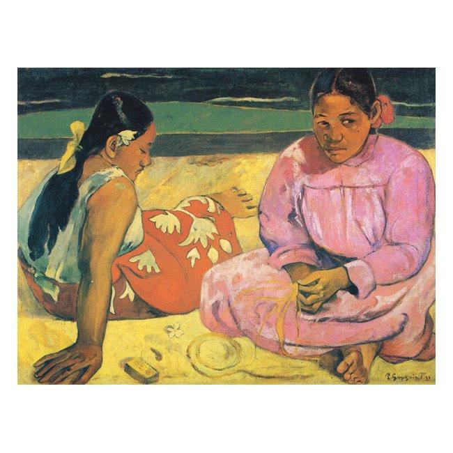 ポール・ゴーギャン「タヒチの女(浜辺にて)」3号〜100号<br>プリハード・デジタグラフ 額付