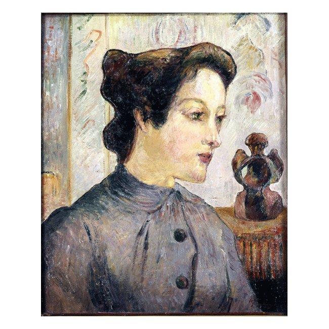 ポール・ゴーギャン「若い女の顔」3号〜100号<br>プリハード・デジタグラフ 額付