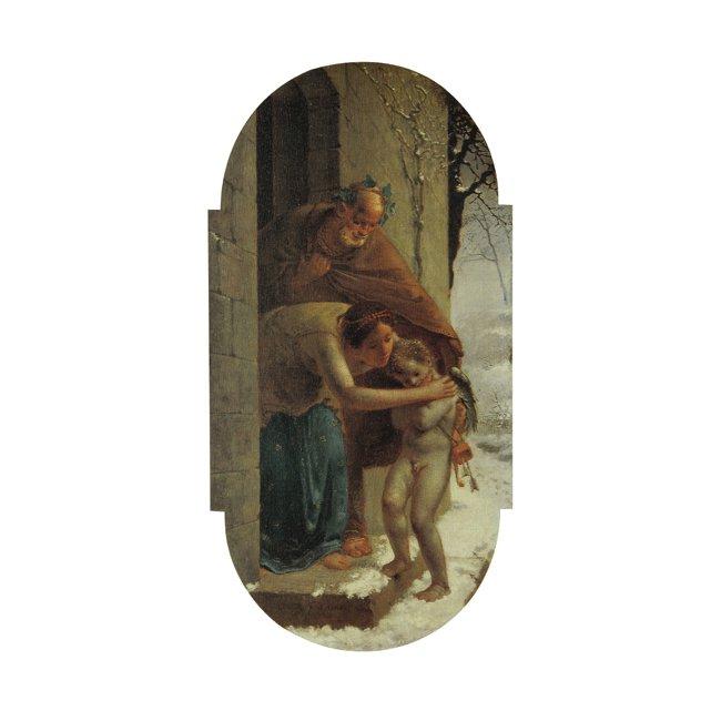 ジャン・フランソワ・ミレー「冬」3号〜100号<br>プリハード・デジタグラフ 額付
