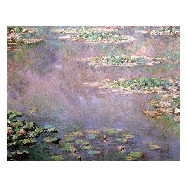 クロード・モネ「睡蓮(水の風景)」 3号〜100号<br>プリハード・デジタグラフ 額付