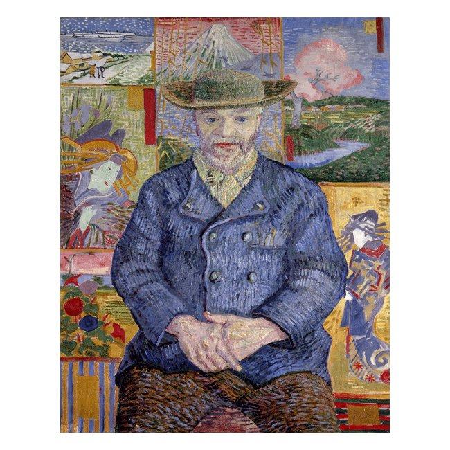 ヴィンセント・ヴァン・ゴッホ「タンギー親爺の肖像」 3号〜100号<br>プリハード・デジタグラフ 額付