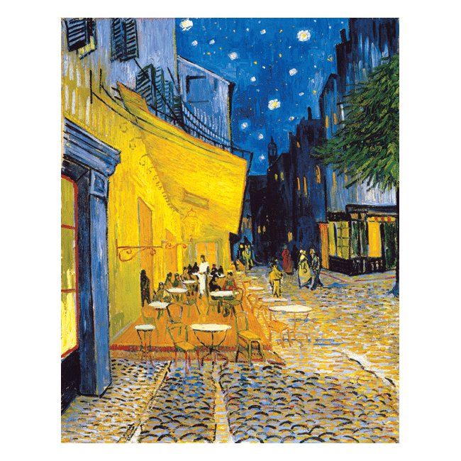 ヴィンセント・ヴァン・ゴッホ「夜のカフェテラス」 3号〜100号<br>プリハード・デジタグラフ 額付