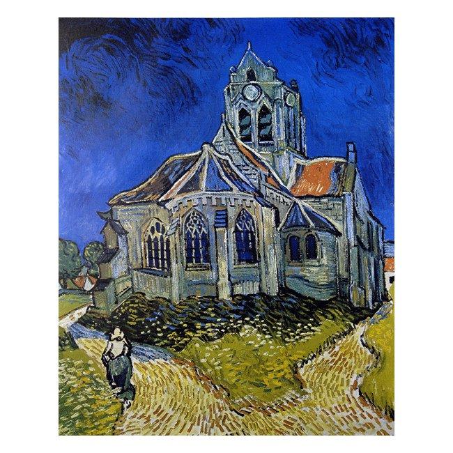 ヴィンセント・ヴァン・ゴッホ「オーヴェールの教会」 3号〜100号<br>プリハード・デジタグラフ 額付