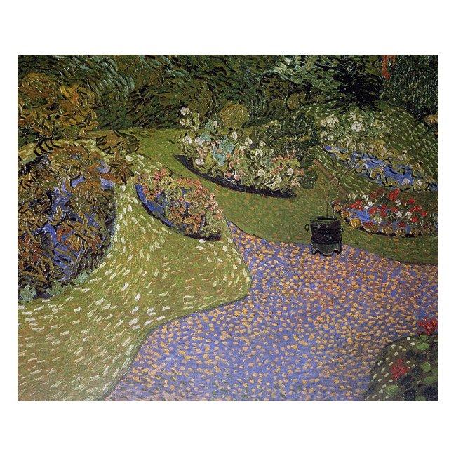 ヴィンセント・ヴァン・ゴッホ「オーヴェールの庭」 3号〜100号<br>プリハード・デジタグラフ 額付