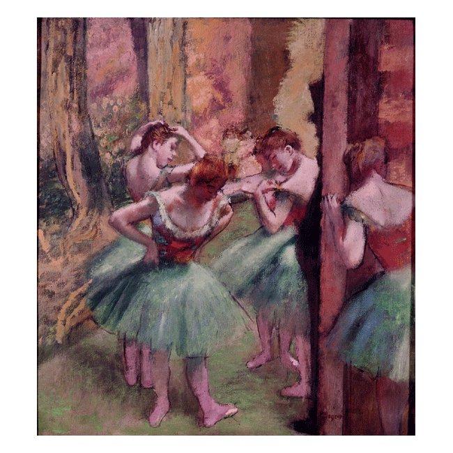 エドガー・ドガ「踊り子ピンクとグリーン」 3号〜100号<br>プリハード・デジタグラフ 額付
