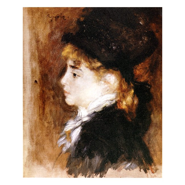 ピエール・オーギュスト・ルノワール「モデルの肖像」 3号〜100号<br>プリハード・デジタグラフ 額付
