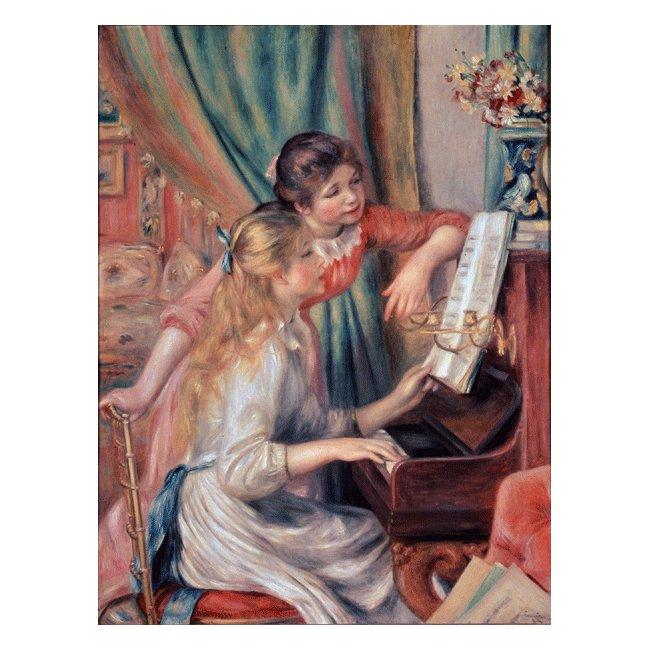 ピエール・オーギュスト・ルノワール「ピアノに寄る娘達」 3号〜100号<br>プリハード・デジタグラフ 額付