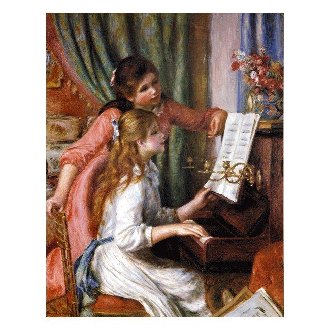 ピエール・オーギュスト・ルノワール「ピアノに向かう二人の若い娘」 3号〜100号<br>プリハード・デジタグラフ 額付