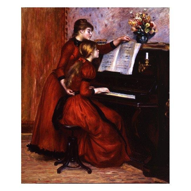 ピエール・オーギュスト・ルノワール「ピアノのレッスン」 3号〜100号<br>プリハード・デジタグラフ 額付