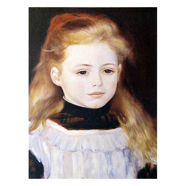 ピエール・オーギュスト・ルノワール「白いエプロンの少女」 3号〜100号<br>プリハード・デジタグラフ 額付